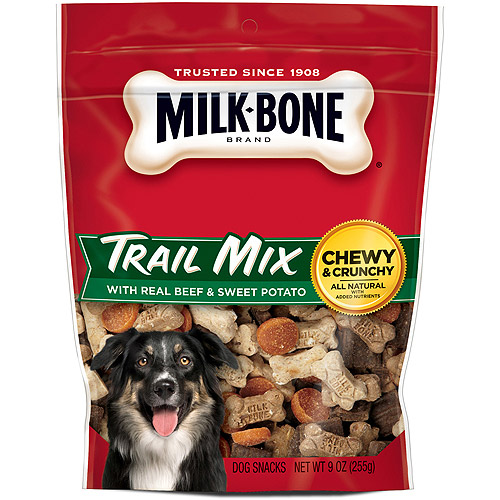Milk-Bone Trail Mix With Real Beef & Sweet Potato Dog Snacks, 9-Ounce