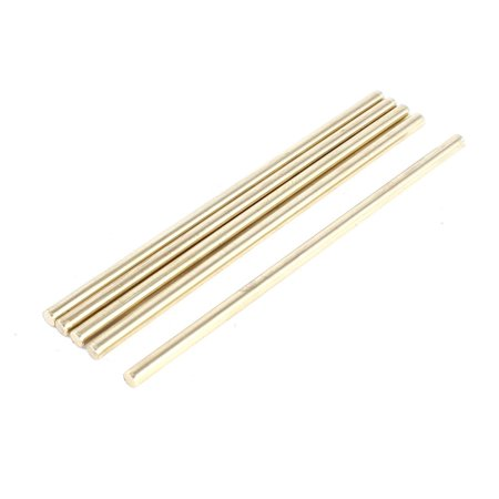 Cb2 Bar - Unique Bargains 5 Pieces Toy Car Helicopter Model DIY Brass Axles Shaft Rod Bars 3x80mm