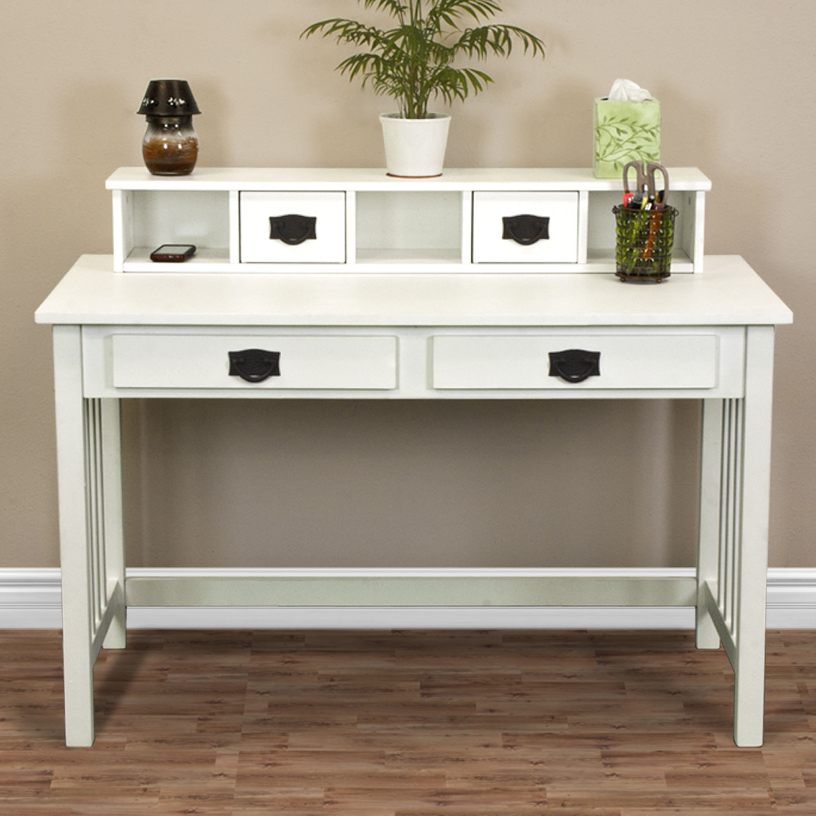 Writing Desk Mission Home Office Computer Desk Wood Construction New - White