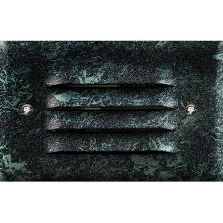 - Dabmar Lighting LV617-VG 20W 12V Cast Aluminum Recessed Louvered Brick Step Wall Light-No Lens, Verde Green