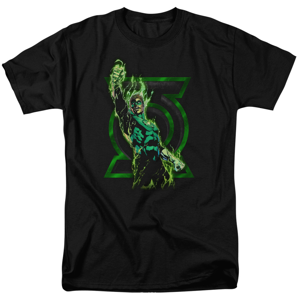 Green Lantern Fully Charged Mens Short Sleeve Shirt