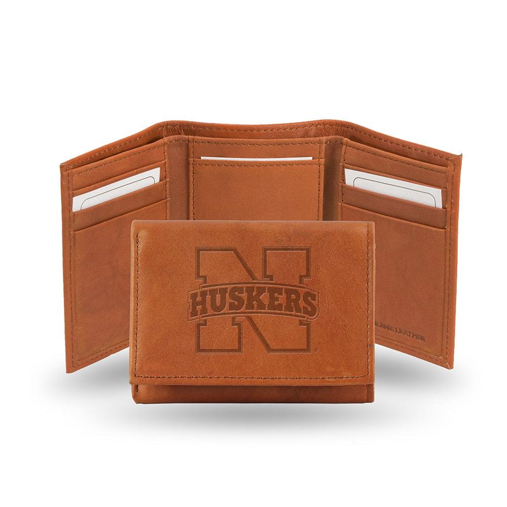 Nebraska Cornhuskers  Tri-Fold Wallet (Pecan Cowhide)
