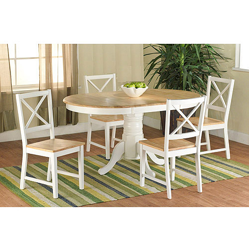 Farmhouse Dining Table White Natural Walmart Com Walmart Com