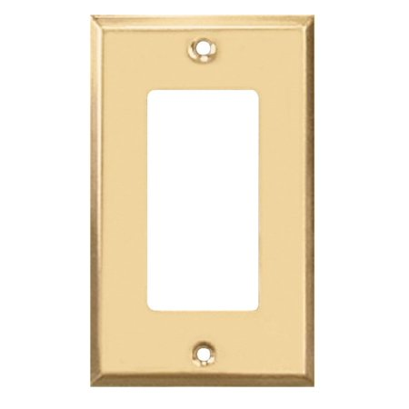 Creative Accents Wood Wall Plate - Creative Accents 9BS117 Bright Brass Finish Steel Decorator Wallplate