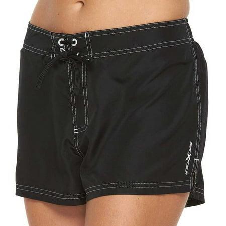 fee57b1065 ZeroXposur - ZeroXposur Women Solid Board Shorts Black - Walmart.com