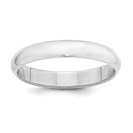 - .925 SS Engravable 4mm Half Round Polished Wedding Band Ring Size 5