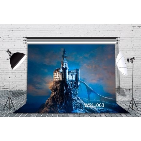 GreenDecor Polyster 7x5ft Stand Tall in the Castle Halloween Theme Photography Backdrop Background Photo Background Studio Prop (Stand In Photo Props)