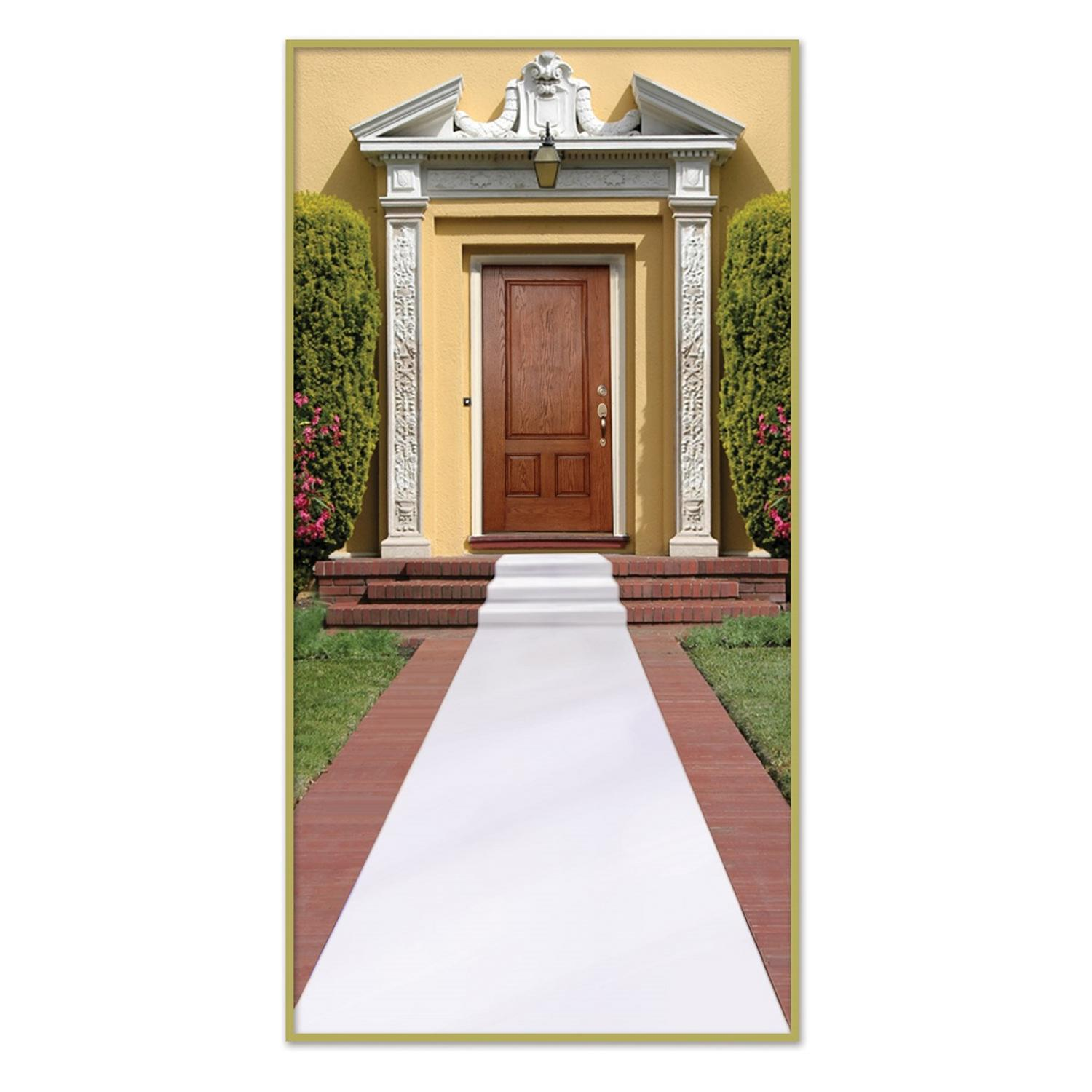 Pack of 6 Wedding Themed White Carpet Runner Party Decorations 15'