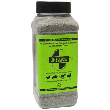 SMELLEZE Natural Poop Smell Removal Deodorizer: 2 lb. Granules. Removes Fecal Stink