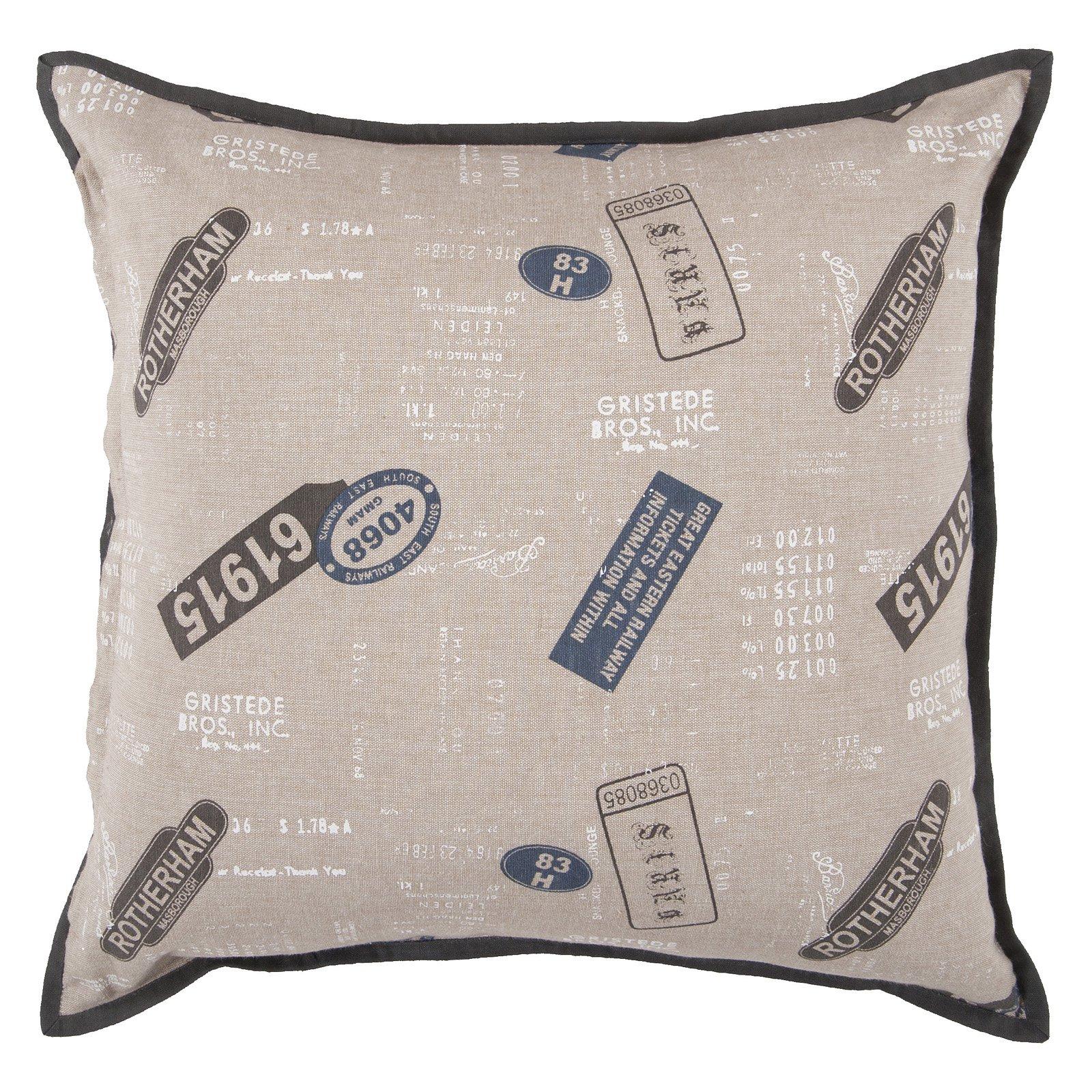 Surya Postal Decorative Pillow - Feather Gray