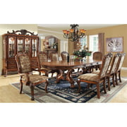 Furniture of America Douglas 9-Piece Extendable Dining Set in Antique Brown