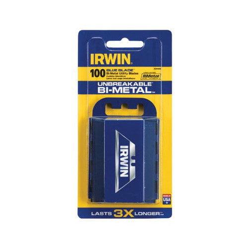 Irwin Utility Knife Blades - utility knife bi-metal blade (100/pk)disp