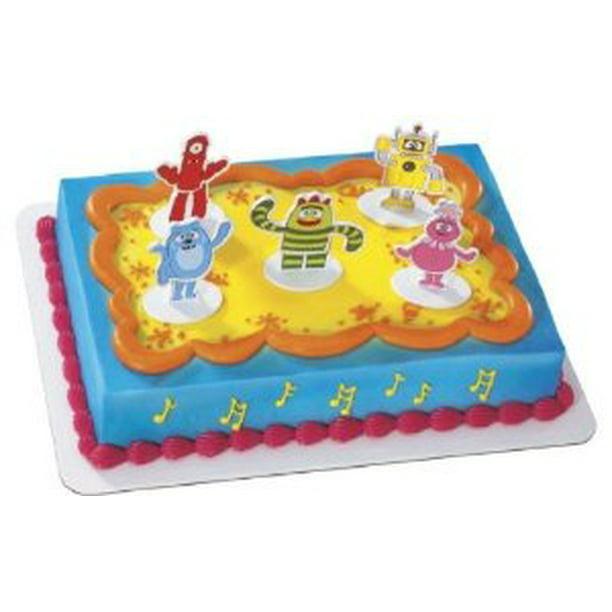 Wondrous Yo Gabba Gabba Dance Party Birthday Party Cake Decoration Topper Funny Birthday Cards Online Elaedamsfinfo