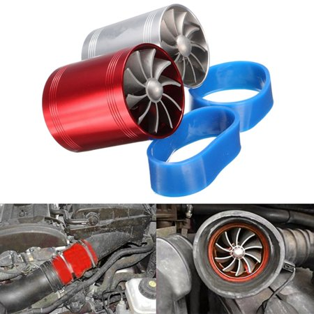 - Car Turbo Supercharger Air Intake Dual FanTurbonat Turbonator Fuel Gas Saver Aluminum Alloy Universal Vehicle SUV Van Caravan US