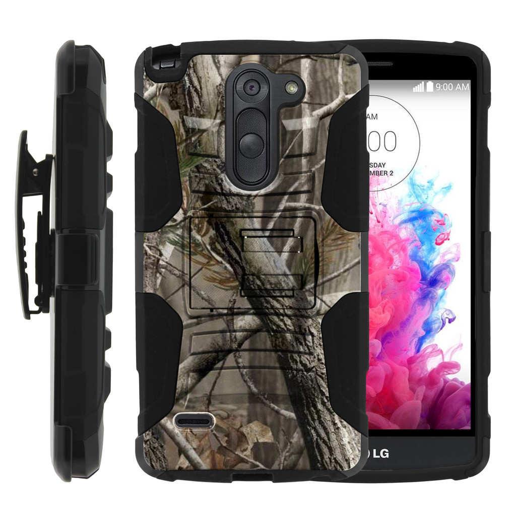 LG G3 Stylus Case | LG D690 Case | G3 Stylus Holster Case [ Clip Armor ] Rugged Case with Kickstand + Holster - Nature's Camouflage