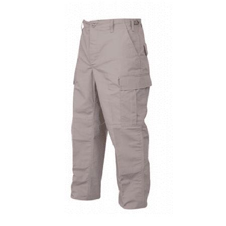 Cotton Khakis - BDU Trousers Khaki 65/35 Polyester, Cotton Rip-Stop, Large Regular