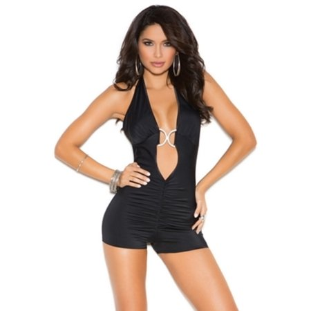 Black Club Cutie Romper Elegant Moments 7183 Black