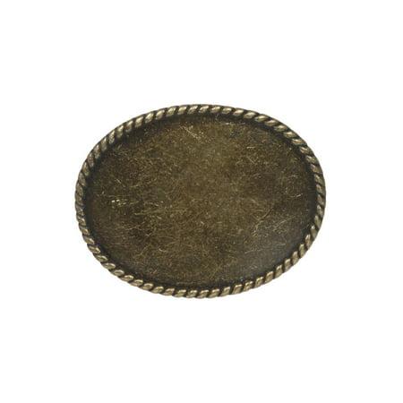 Western Plain Oval Hammered Vintage Belt Buckle Opal Belt Buckle