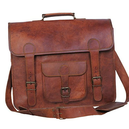 1a22ee24e0c8 Komal s Passion leather 16 Inch Handmade Leather Bag Office Bag Laptop Bag  Satchel Messenger Bag - Walmart.com