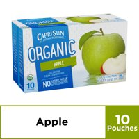 (4 Pack) Capri Sun Organic Apple Ready-to-Drink Soft Drink, 10 - 6 fl oz Pouches
