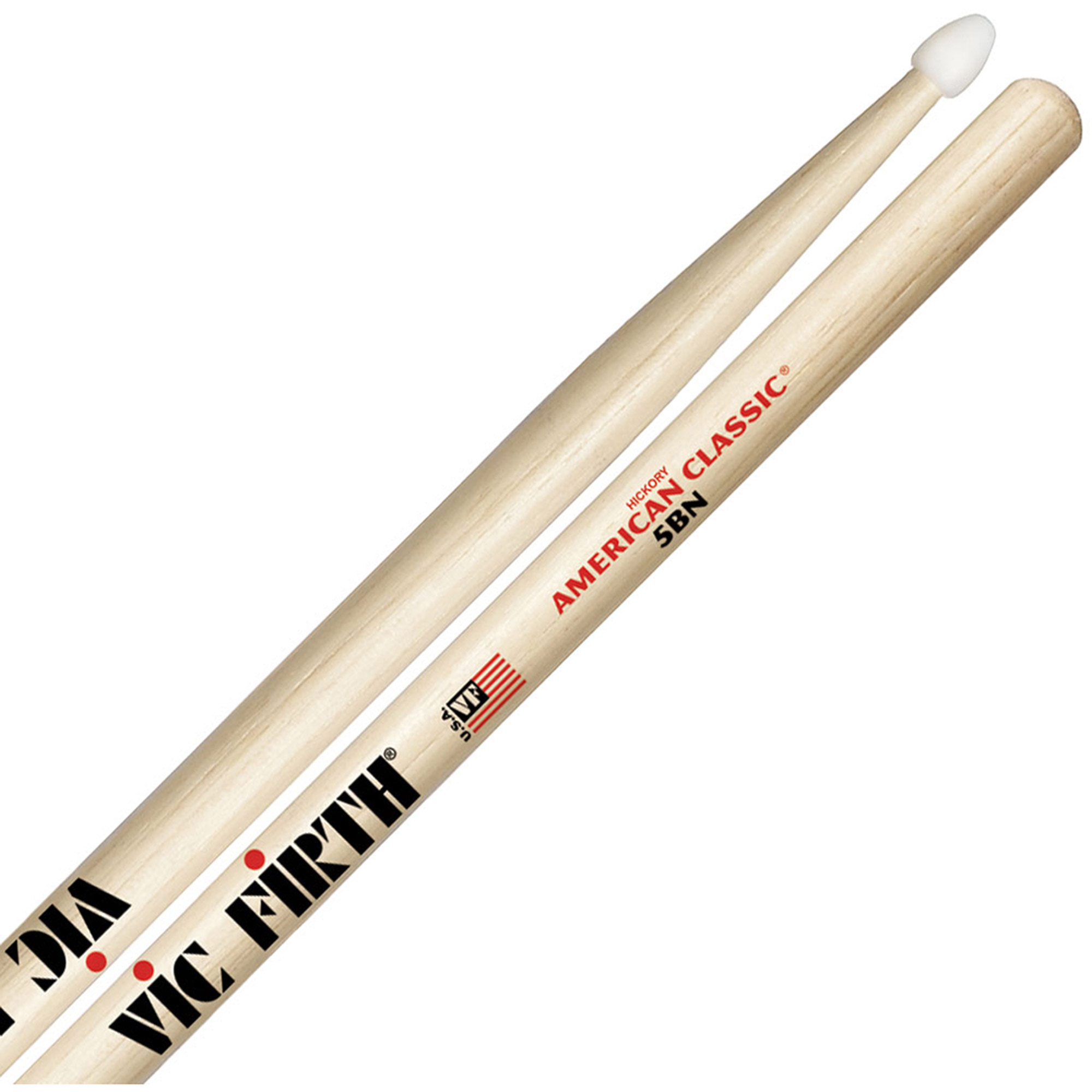 Vic Firth American Classic 5BN Nylon Tip Hickory Drumsticks