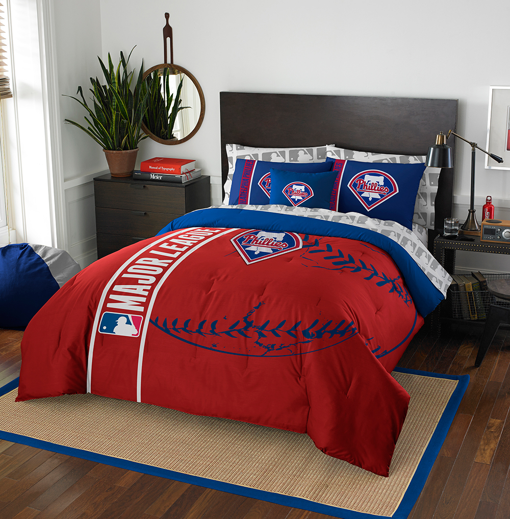 Philadelphia Phillies MLB Full Comforter Bed in a Bag (Soft & Cozy) (76in x 86in)