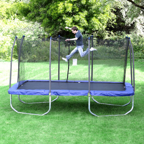 Skywalker Trampolines 15' x 9' Rectangle Trampoline and Enclosure - Blue