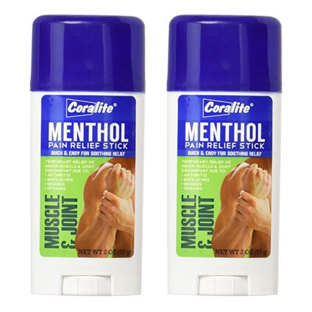 2Pk Menthol Pain Relief Stick 2 oz Quick Arthritis Backache Bruises Muscle (Best Medication For Muscle Pain)