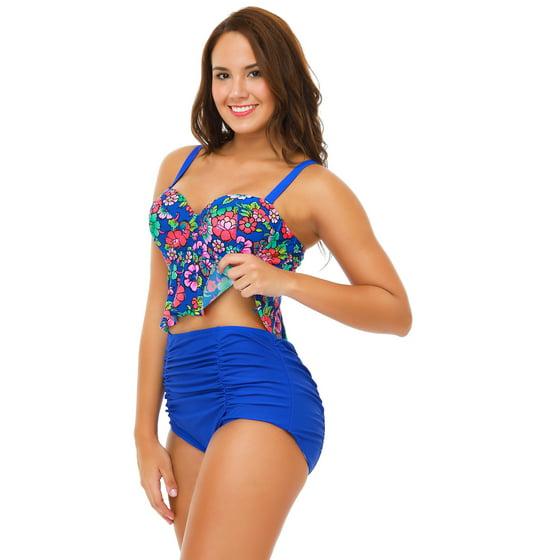 a0108a2a44d SENFLOCO - Senfloco Women Plus Size Swimwear 2pcs Tankini Set ...