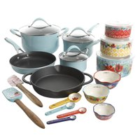 The Pioneer Woman Frontier Speckle 24-Piece Cookware & Food Storage Combo Set