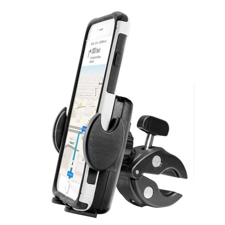 Plus Phone Cradle - DigiMo Exercise Spin Bike Holder,Treadmill, Bike Mount or Motorcycle Holder Clamp Post for Apple iPhone8/7/6 and Plus Phones w/ Anti-Vibration Cradle Stand (use with or without case)