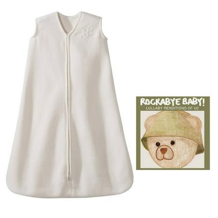 (Halo SleepSack Small Micro Fleece Wearable Blanket with Rockabye Baby Lullaby Renditions CD, U2)