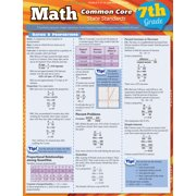 BarCharts 9781423217695 Math Common Core 7Th Grade Quickstudy Easel