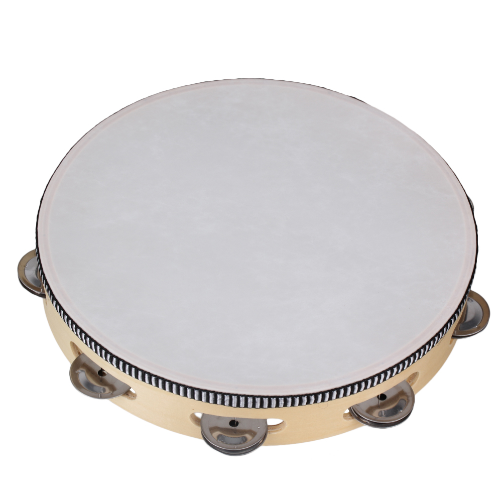 BQLZR 10'' Wooden Musical Tambourine Hand Drum Beat for Singing and Dancing Percussion... by