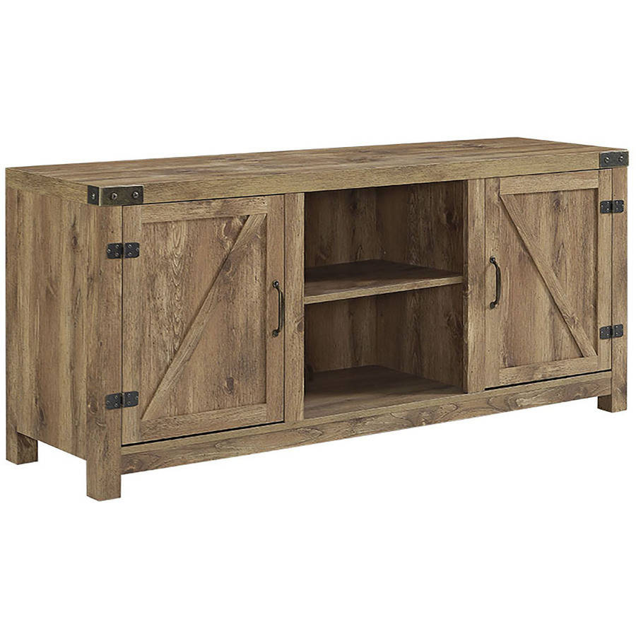 Details about Flat Screen TV Stand Wood 65 Inch Oak Television  Entertainment Media Console New