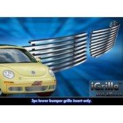 Fits 06-11 2011 VW Volkswagen Beetle Bumper Stainless Steel Billet Grille