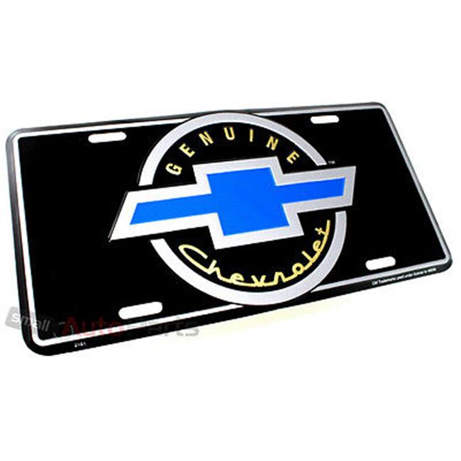 SmallAutoParts Aluminum License Plate - Old Genuine Chevrolet