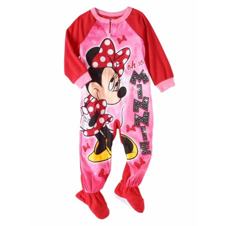 Disney - Disney Toddler Girls Pink Fleece Minnie Mouse Blanket Sleeper  Footie Pajamas - Walmart.com 64ad61b91