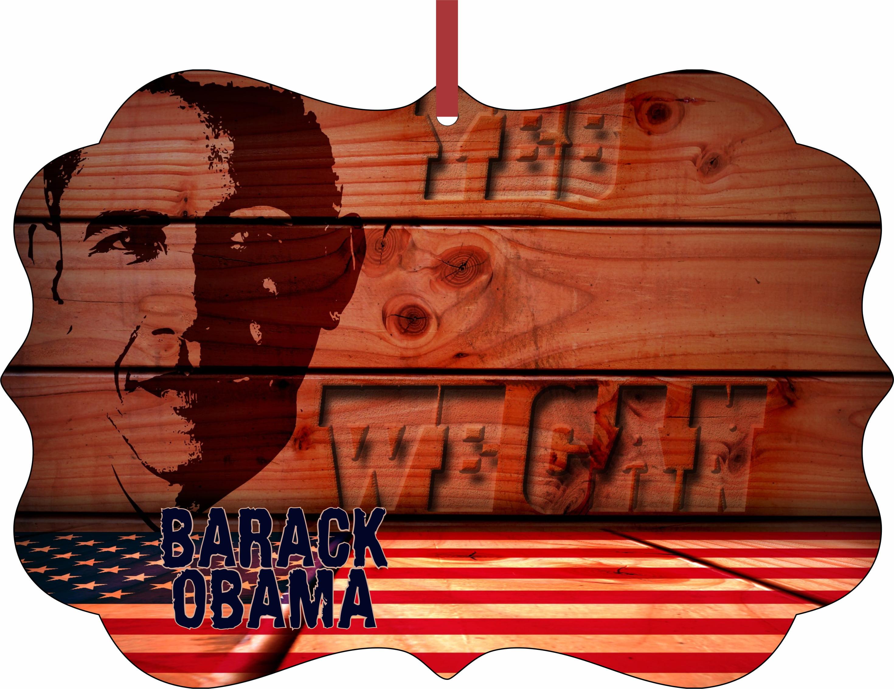 Barack Obama Patriotic Design - - TM Benelux-Shaped Double-Sided ...