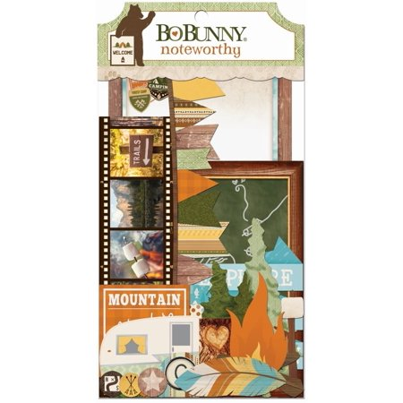 Noteworthy Die-Cuts-, One 4x8 package of noteworthy,Includes cardstock die cuts perfect for journaling or accents By Take A Hike
