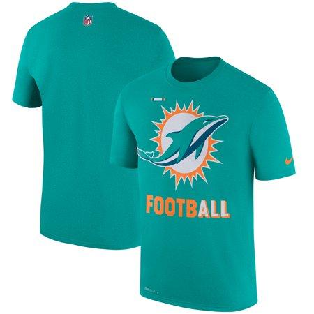 Miami Dolphins Nike Sideline Legend Football Performance T-Shirt - Aqua