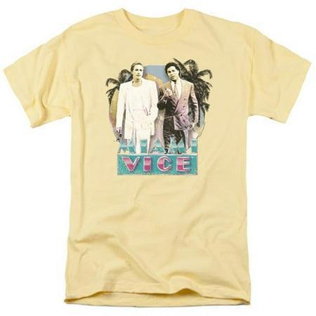 Trevco Miami Vice-80s Love Short Sleeve Adult 18-1 Tee, Banana - Small](Halloween Stores Miami)