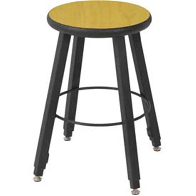 National School Lines QSSTL7186-AQ-94 18-2 8 inch Adjustable Four-Legged Square Tube Fully Welded Stool, Fusion Maple