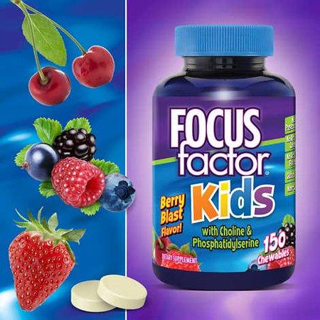 - FOCUSfactor Kids, 150 Chewable Tablets Berry Blast Flavor