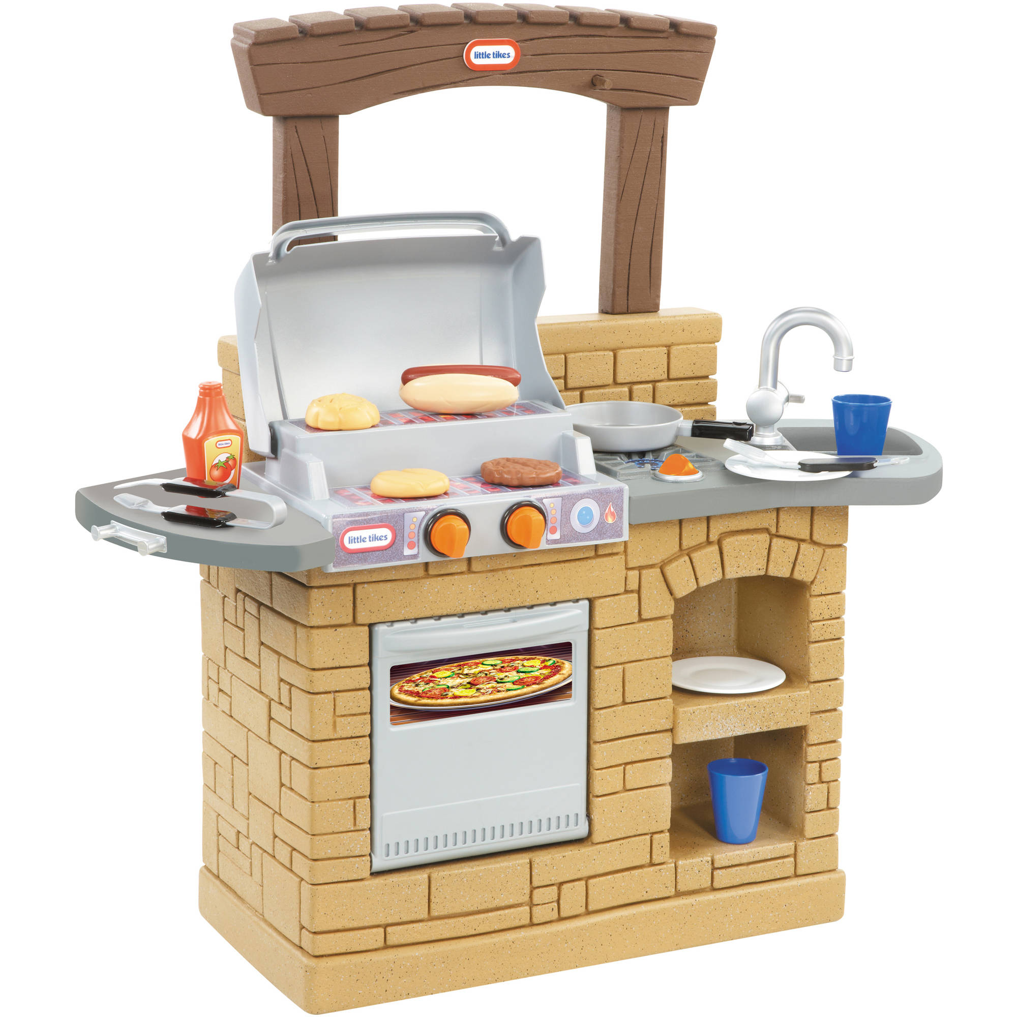 Little Tikes Cook \'n Play Outdoor BBQ Grill - Walmart.com