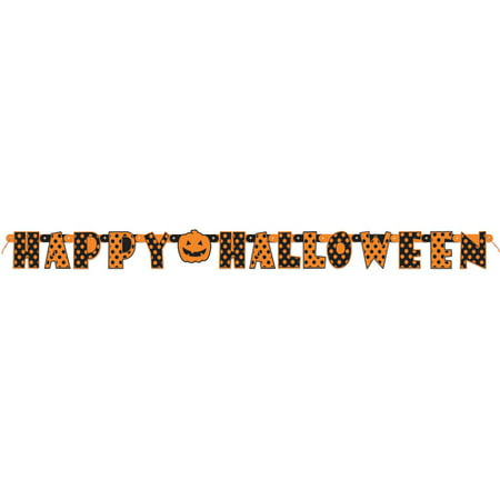 5.5' Polka Dot Happy Halloween Letter Banner (Happy Halloween Letters Printable)