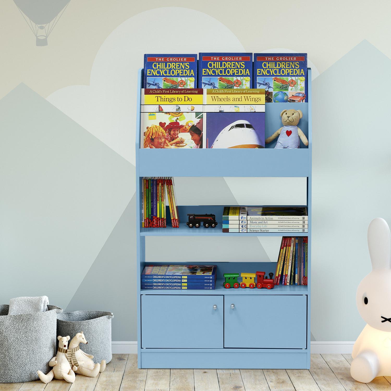 Sensational Furinno Fr16119 Kidkanac Magazine Bookshelf With Toy Storage Cabinet Download Free Architecture Designs Lukepmadebymaigaardcom