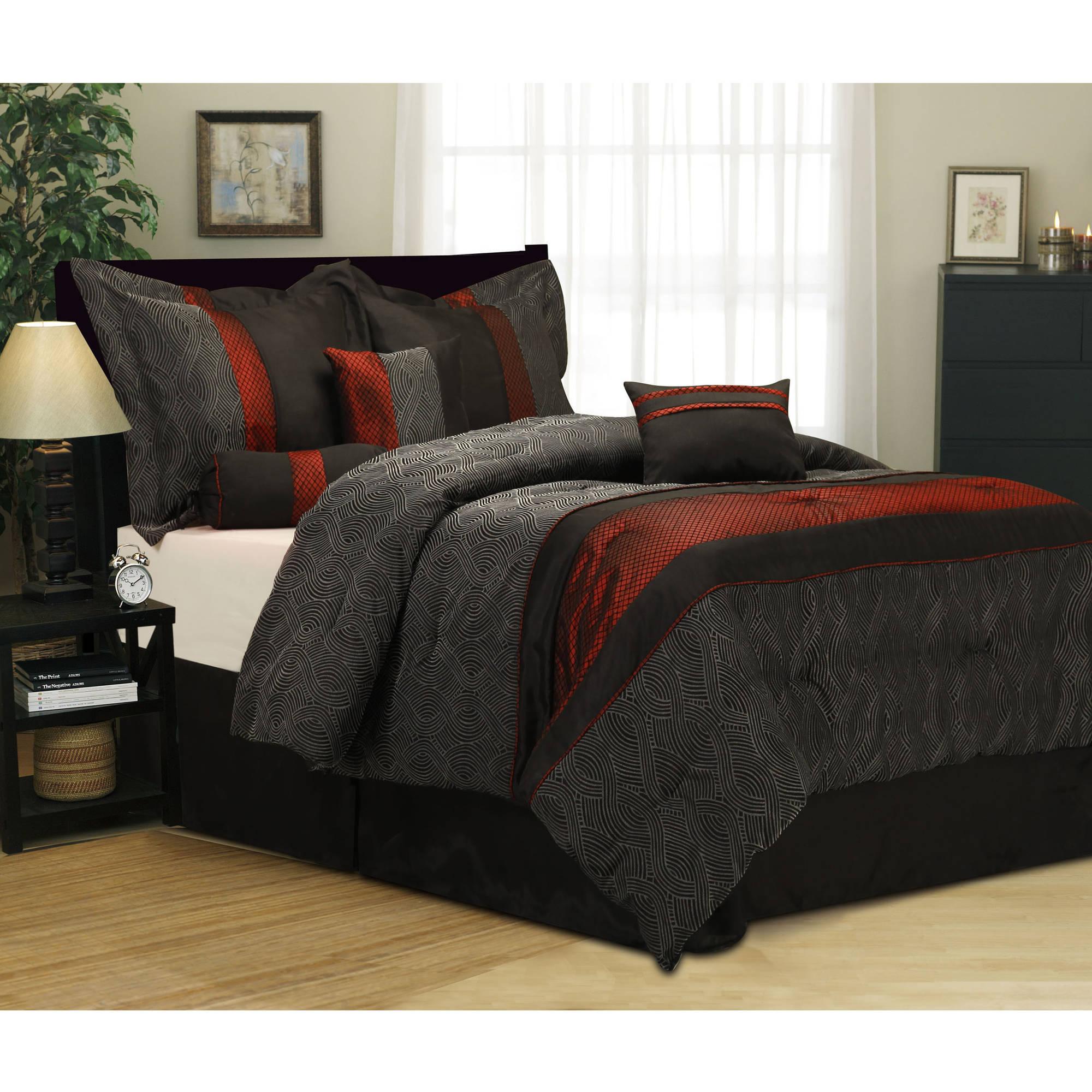 Corell 7 Piece Bedding Comforter Set Walmart Com