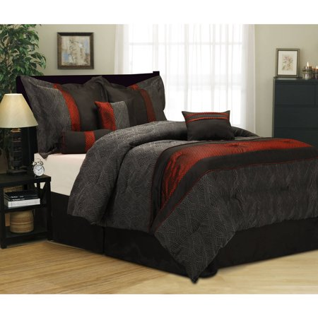 Corell 7 piece bedding comforter set - Bedroom comforter and curtain sets ...