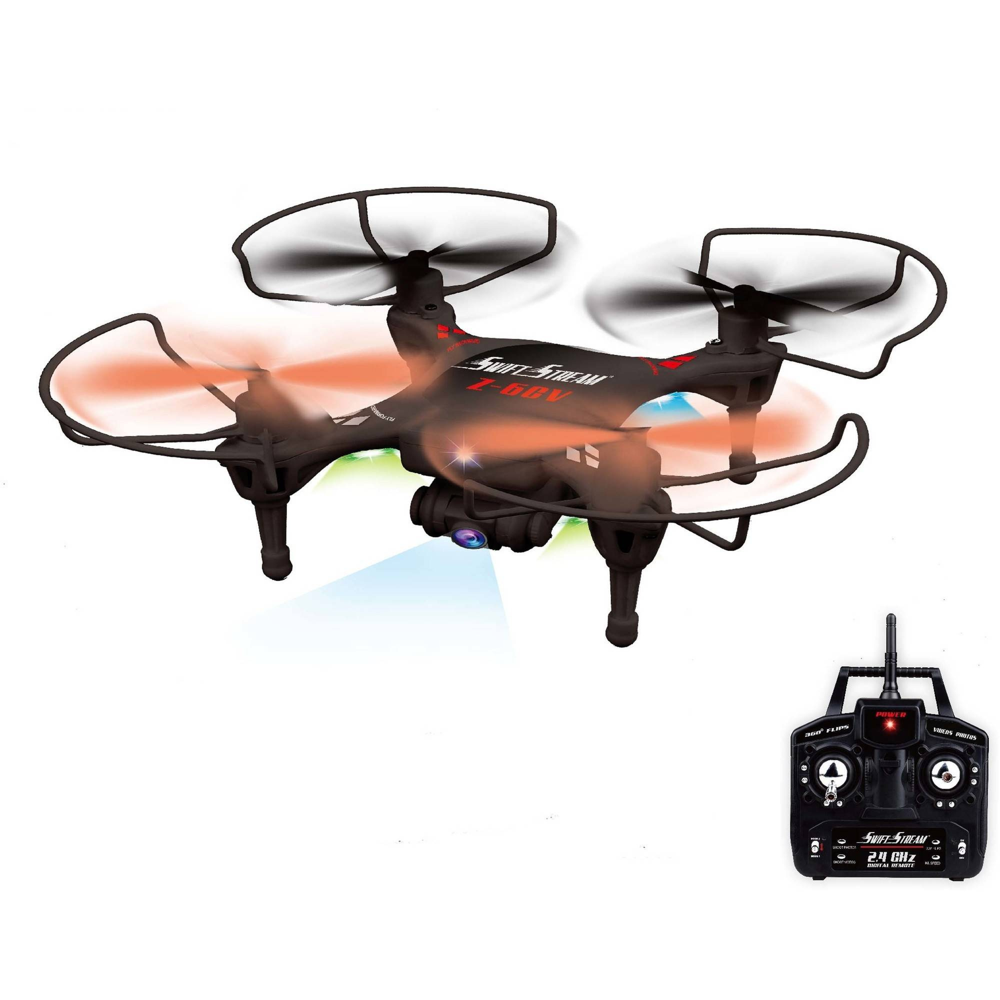 Swift Stream Z-6CV 4Hz 5-Channel RC Drone with 6-Axis Gyro and 0.3MP Camera, Black
